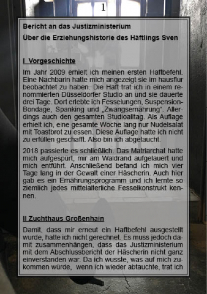 Haftbericht Häftling Sven (Deutsch/ German)