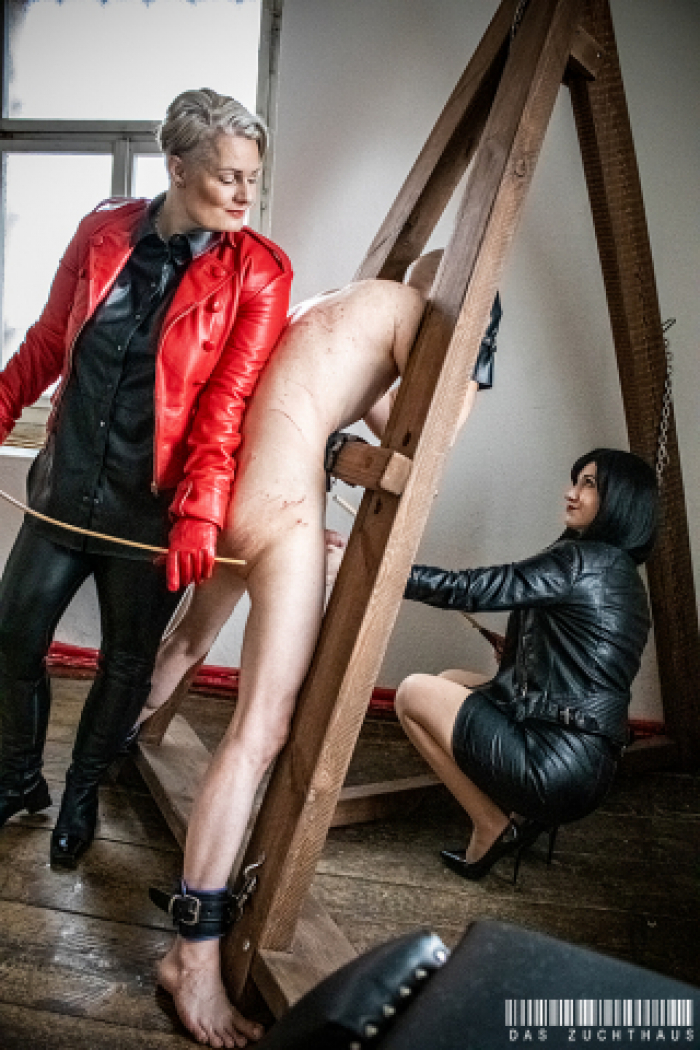Frau Aufseherin and Lady Daria - Double Punishment