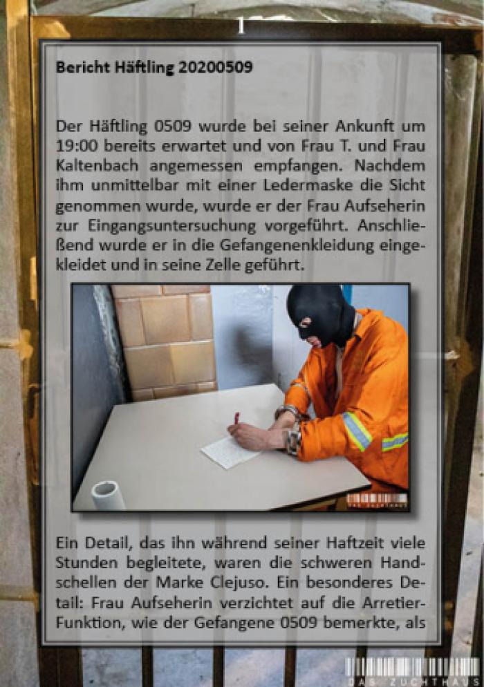 Haftbericht Häftling 0509 (Deutsch/German)